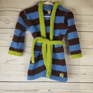 Kashwere Striped Bath Robe Kids Size 2-4 Hooded